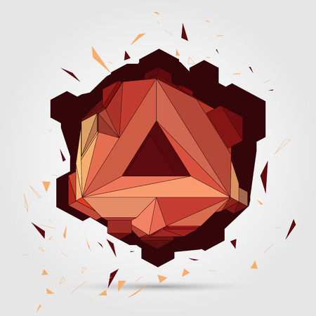 Vector. Abstract 3D geometric illustration. Vector