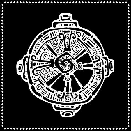 tatto: Hunab Ku  Mayan symbol. Hand Drawn detailed pattern.