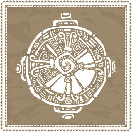symbol hand: Hunab Ku Maya-Symbol. Hand gezeichnete ausf�hrliche Muster. Illustration