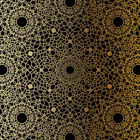 tantra: Vector vintage background. Mandala Indian decorative pattern.
