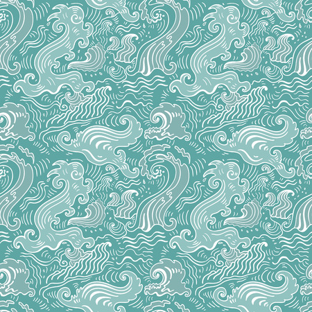 oceanic: Sea waves pattern. Seamless Wave background - textile, wallpaper design, pattern fills, web page backgrounds, surface textures.