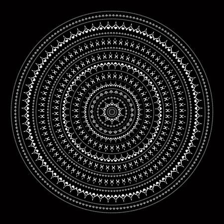 mendie: Vector vintage background Mandala. Indian decorative pattern. Illustration