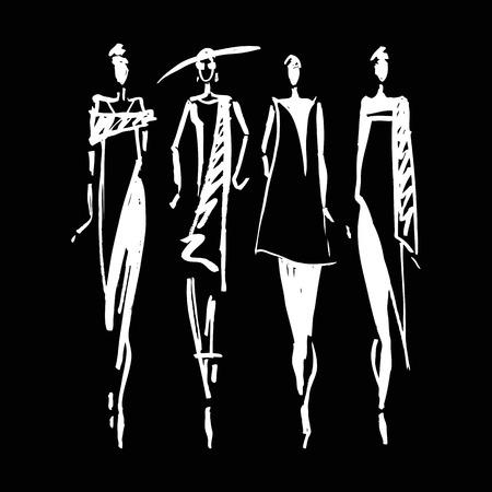 silhouette woman: Beautiful Woman silhouette