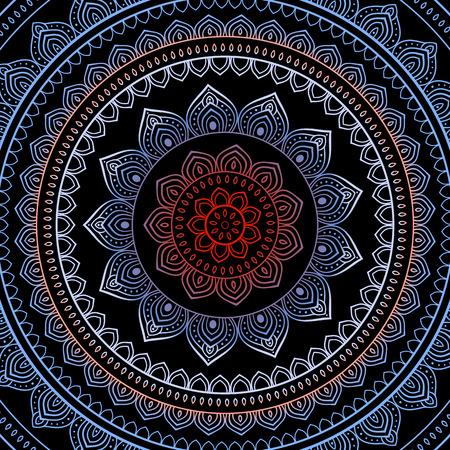indische muster: Vector Vintage Hintergrund. Mandala indischen dekorativen Muster.