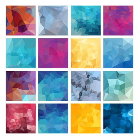 polygons: Set of Abstract Geometric backgrounds. Polygonal vector design