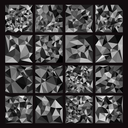 origami pattern: Set of Abstract Geometric backgrounds. Polygonal vector design