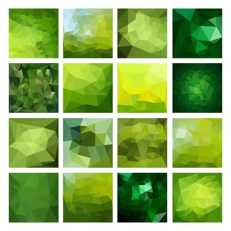 to polygons: Conjunto de fondos abstractos geométricos. Diseño vectorial poligonal