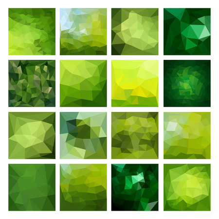 triangular banner: Set of Abstract Geometric backgrounds. Polygonal vector design
