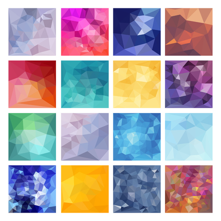 background abstract: Set of Abstract Geometric backgrounds. Polygonal vector design