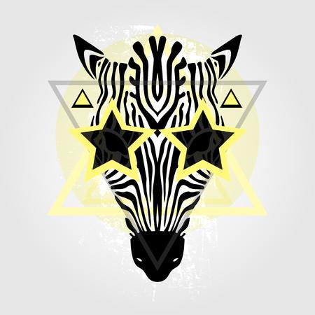 zebra head: Zebra head Tribal pattern. Abstract style Vector illustration