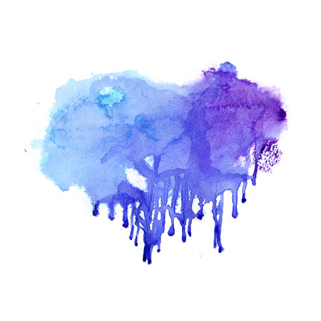 paint drop: Watercolor background. Hand drawn Painting. Colorful illustration Stock Photo