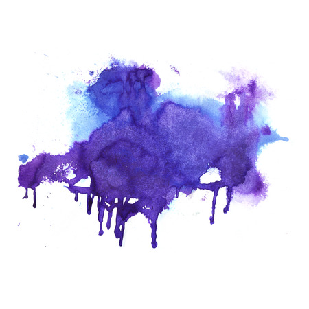 splatter: Watercolor background. Hand drawn Painting. Colorful illustration Stock Photo