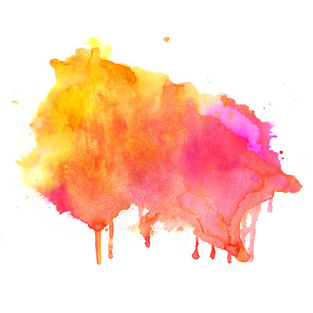 Watercolor background. Hand drawn Painting. Colorful illustration Stock Photo
