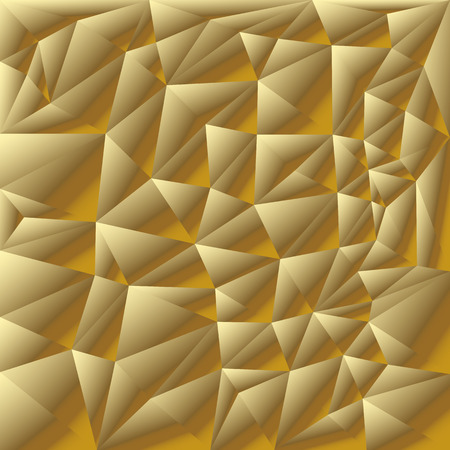 metal pattern: Golden background. Abstract 3D polygonal pattern set.