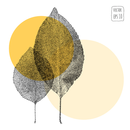 Leaves. Pattern with leaf. Hand Drawn vector Illustration