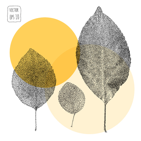 Leaves. Pattern with leaf. Hand Drawn vector 矢量图像