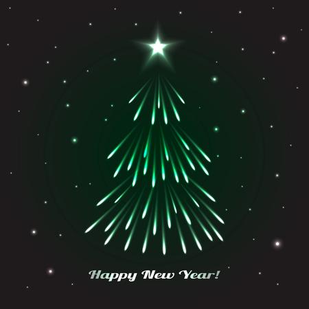 celebration background: Christmas Tree. Celebration Card, Poster Holidays Background. Vector Illustration Illustration