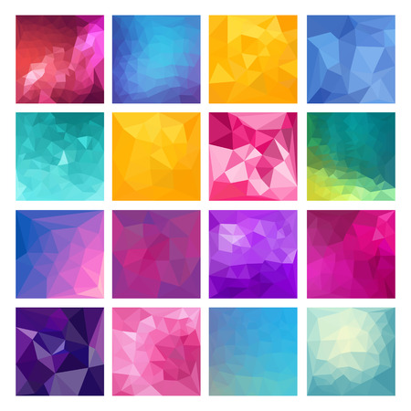 abstract pattern: Set of Abstract Geometric backgrounds. Polygonal vector design