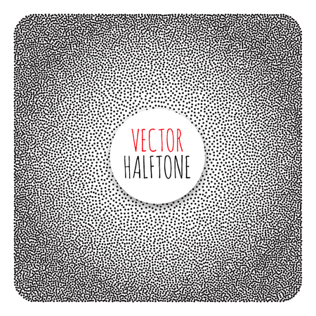 polution: Halftone Background. Dotwork Abstract Vector illustration Vintage style