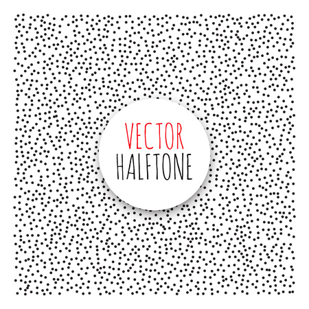 polution: Halftone Background set. Dotwork Abstract Vector illustration Vintage style Illustration