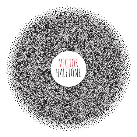 tone: Halftone Background set. Dotwork Abstract Vector illustration Vintage style Illustration