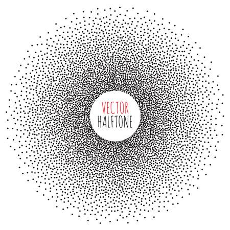 halftone background: Halftone Background set. Dotwork Abstract Vector illustration Vintage style Illustration