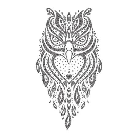 Owl Tribal pattern. Abstract style Vector illustration Illustration