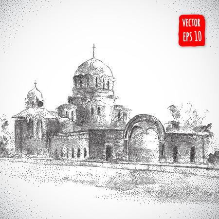 cristianismo: Catedral ilustración building.architectural Vectores