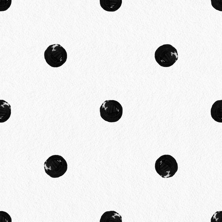 dot pattern: Watercolor seamless pattern. Abstract background, Hand drawn polka dot Stock Photo