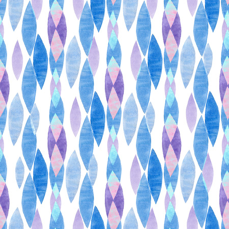 swooshes: Watercolor Retro seamless pattern. Abstract shapes seamless ornament. Hand drawn pattern.