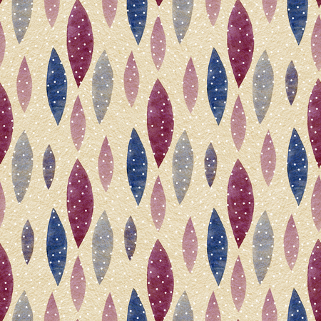 seamless pattern: Watercolor Retro seamless pattern. Abstract shapes seamless ornament. Hand drawn pattern.