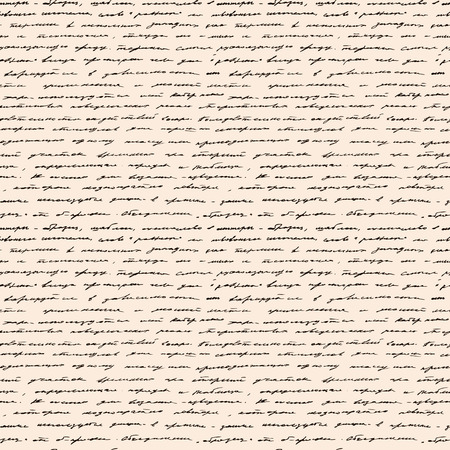 Calligraphy Handwriting. Seamless background. Text pattern, vintage style