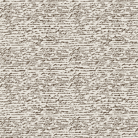 antiquities: Calligraphy Handwriting. Seamless background. Text pattern, vintage style