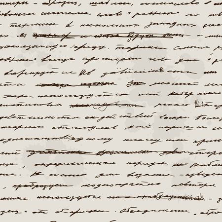 scribe: Love Handwriting Seamless background. Text pattern, vintage style