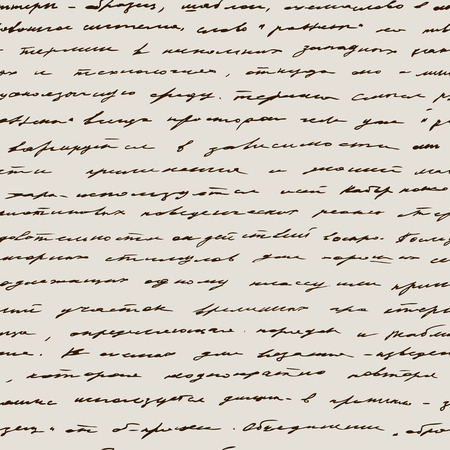 love letters: Love Handwriting Seamless  background. Text pattern, vintage style Illustration