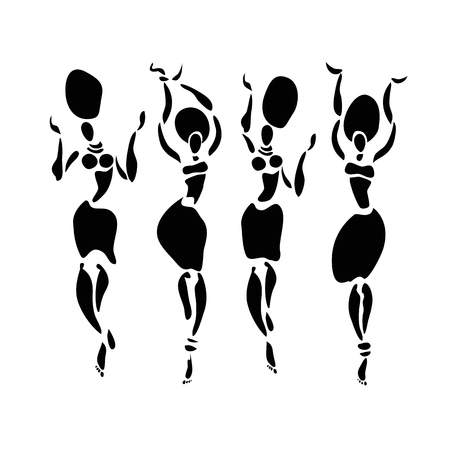 bailarines africanos. Mujer del baile en estilo étnico.