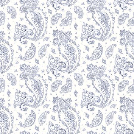 mhendi: Paisley background. Seamless Hand Drawn pattern. Illustration