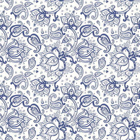 traditional pattern: Paisley background. Seamless Hand Drawn pattern. Illustration