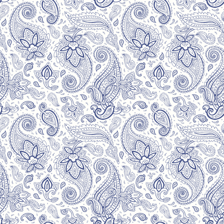 Paisley background. Seamless Hand Drawn pattern. Illustration