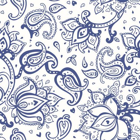 Paisley background. Seamless Hand Drawn pattern. Illusztráció