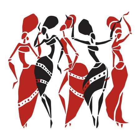 actress: Beautiful dancers silhouette