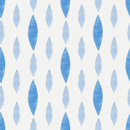 sketch: Watercolor Retro seamless pattern Stock Photo