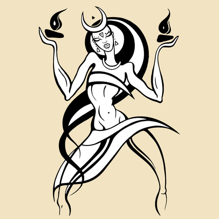 Woman dancing with fire.