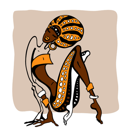 African woman in ethnic style