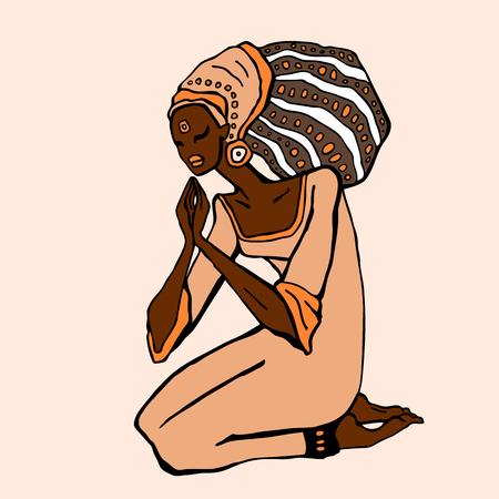 rastas: Mujer africana en estilo étnico