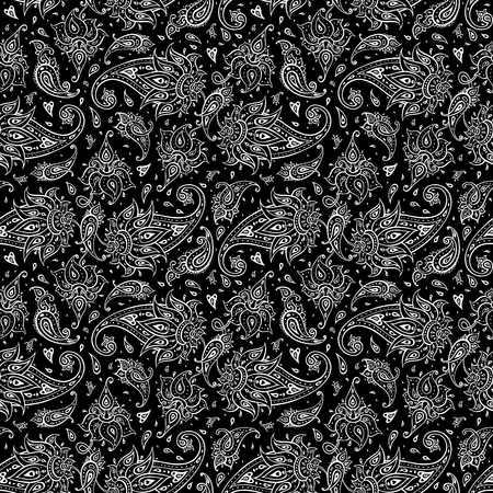 texture: Paisley Ethnic ornament. Seamless Paisley background. Elegant Hand Drawn vector pattern.