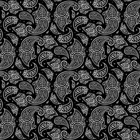 details: Paisley seamless background. Illustration
