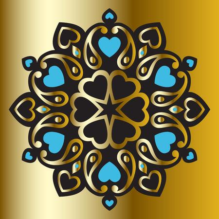 Ornament Mandala, Yoga Illustration