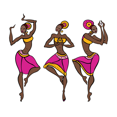 Dancing woman in ethnic style