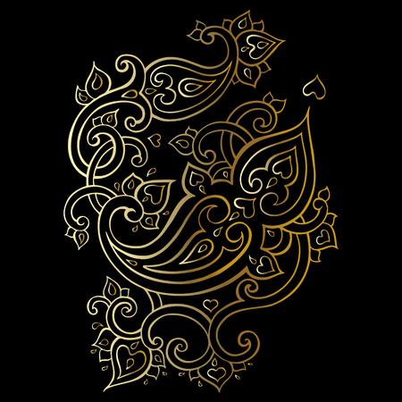 Paisley Ethnic ornament. Illustration